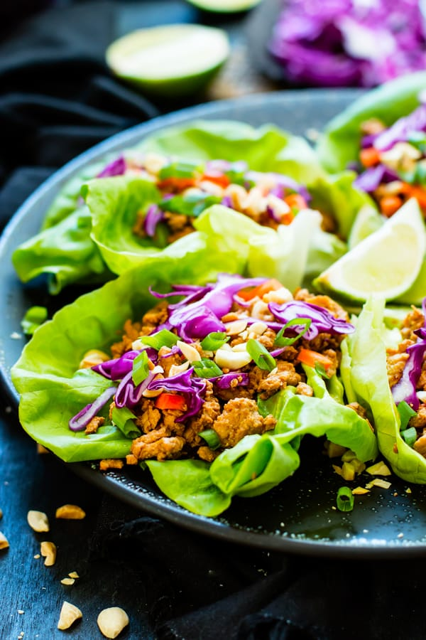 Chicken Thai Lettuce Wraps