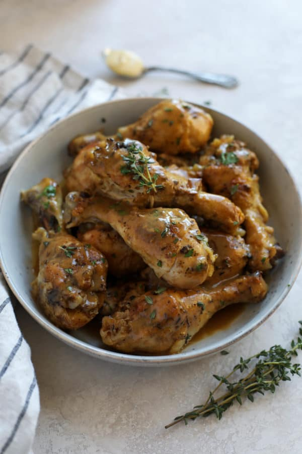 Dijon-Thyme Chicken Legs