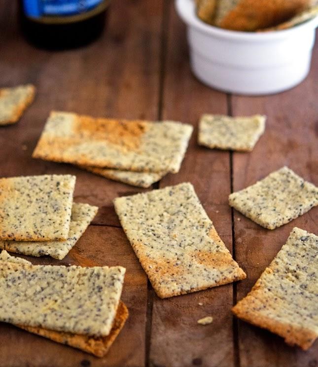 Almond Poppy Crackers