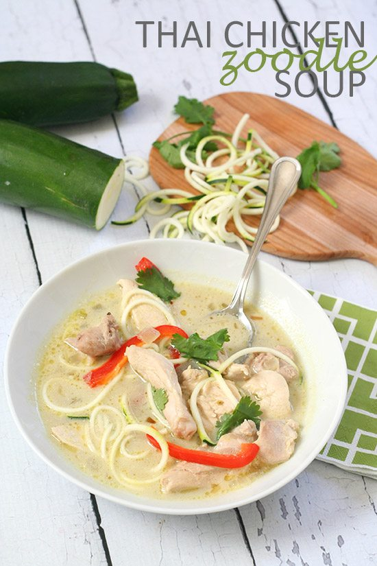 Thai Chicken Zoodle Soup
