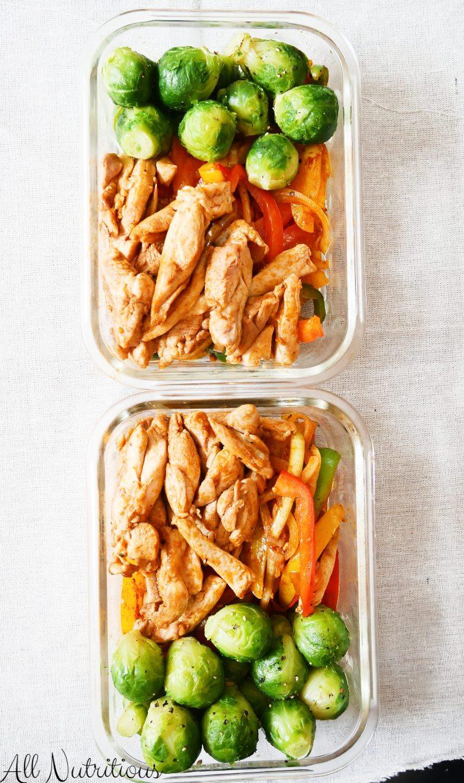 low carb chicken fajita meal prep