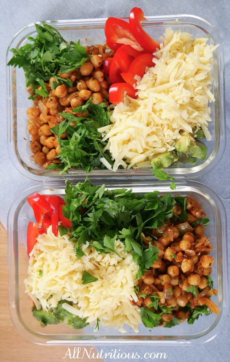 chickpea meal prep bowl