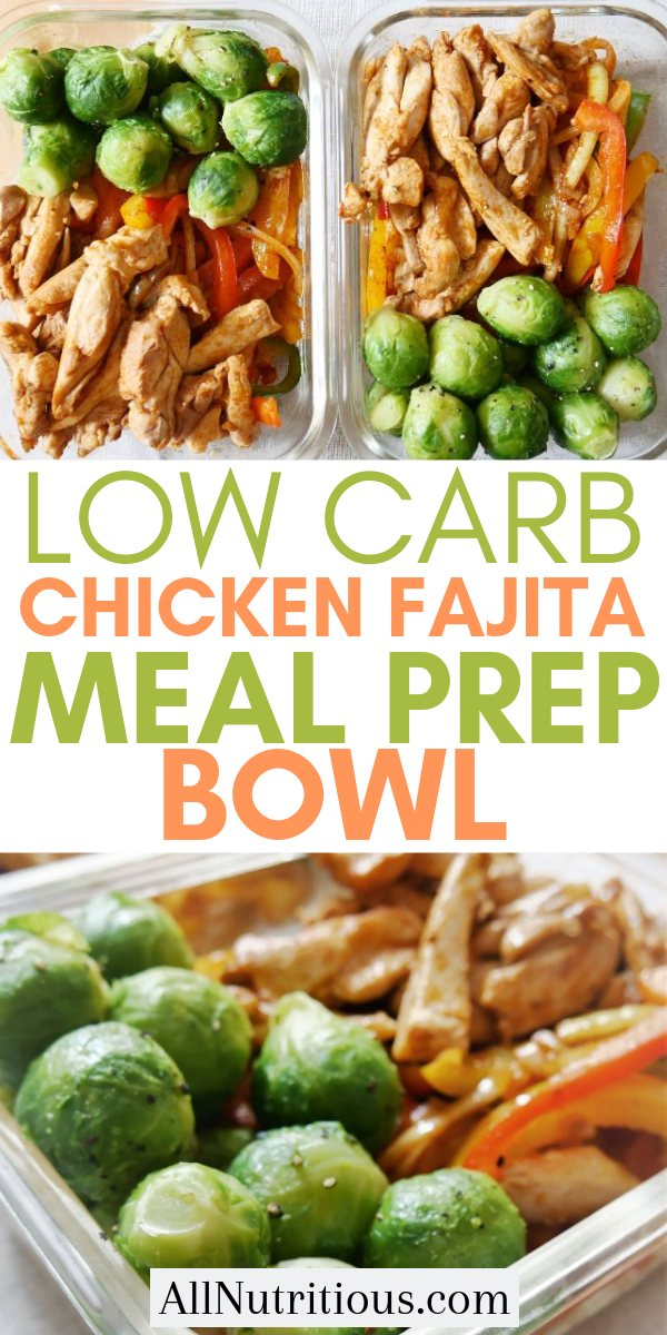 Try this low carb chicken fajita meal prep bowl and lose weight while eating a low carb diet. This is a great meal prep recipe to try if you love Mexican cuisine or just want a low carb meal.