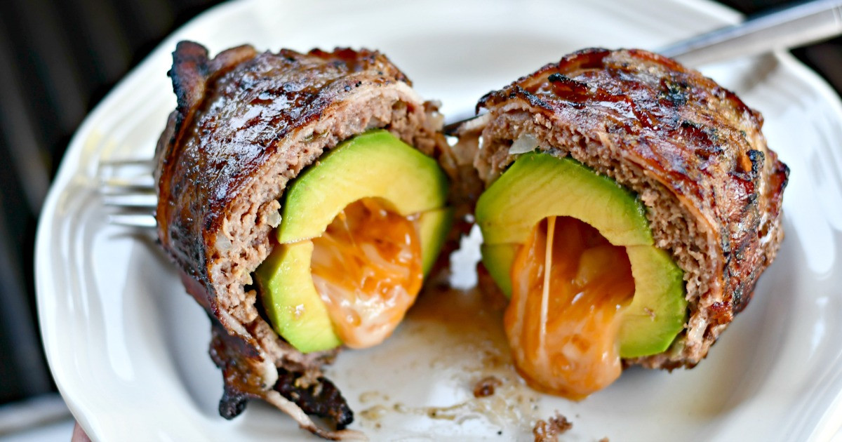 Bacon-Wrapped Avocado Burger Bombs