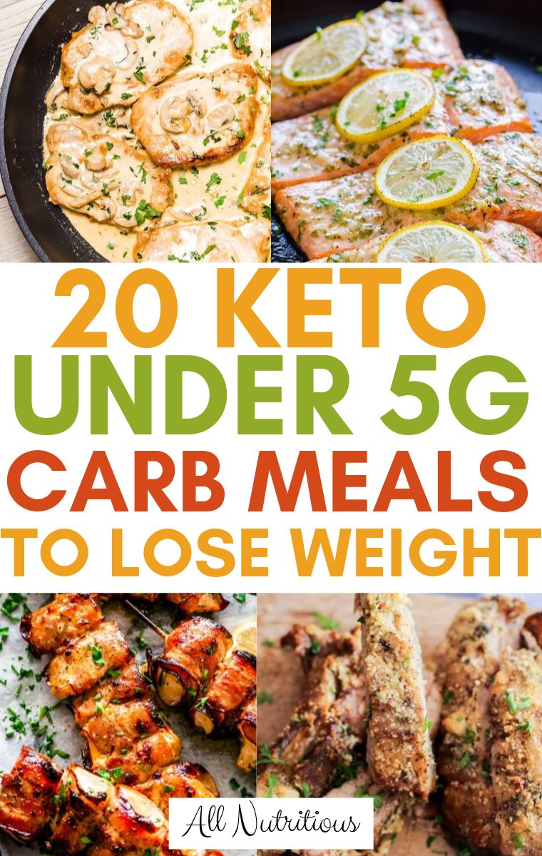 keto under 5g carb meals