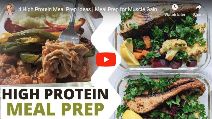 high protein meal prep ideas video
