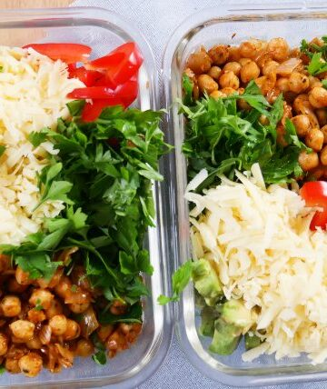 spicy chickpea meal
