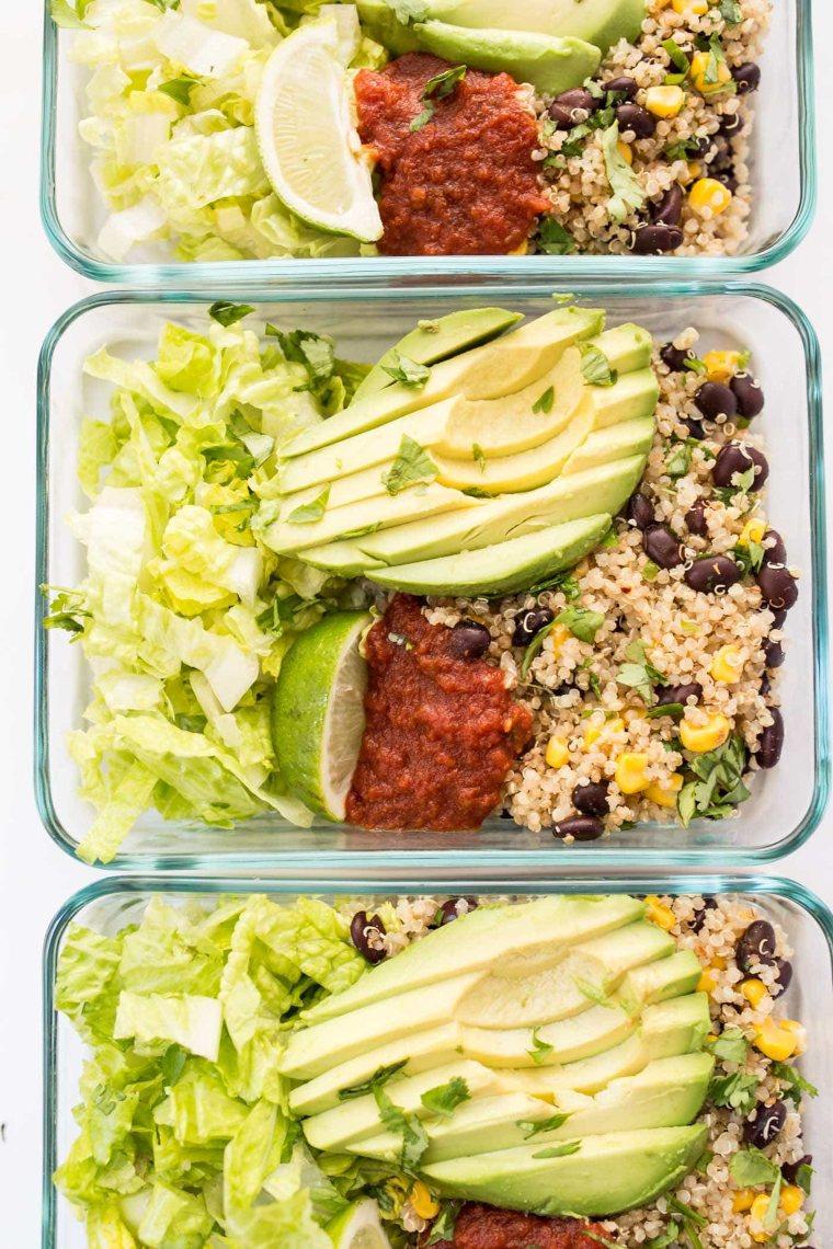 Meal-Prep Vegetarian Quinoa Burrito Bowls