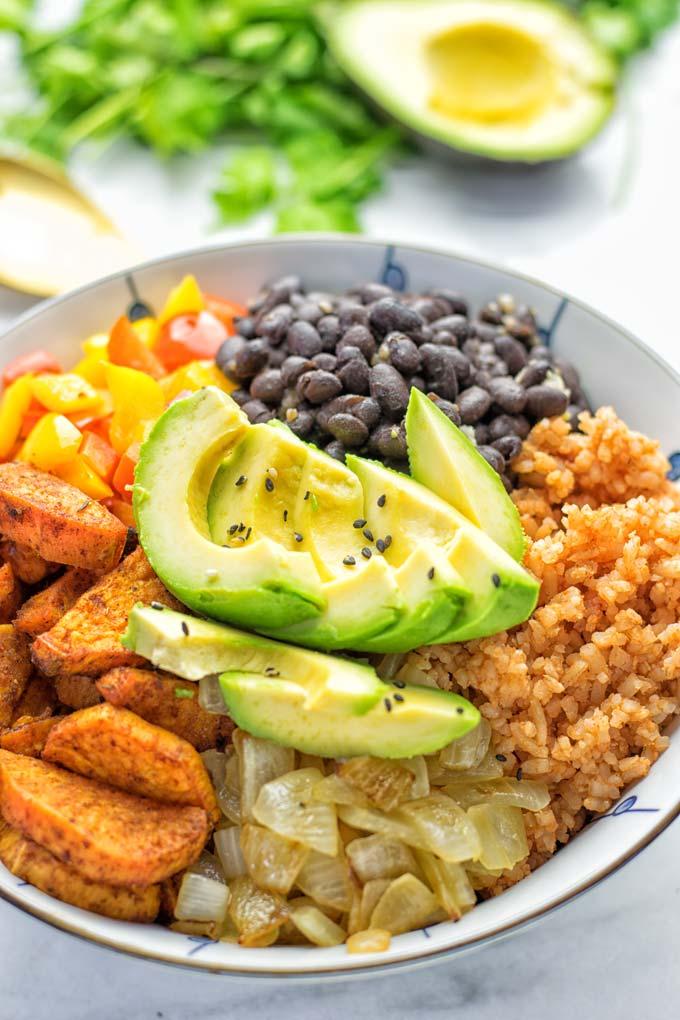 Cajun Sweet Potato Rice Bowl