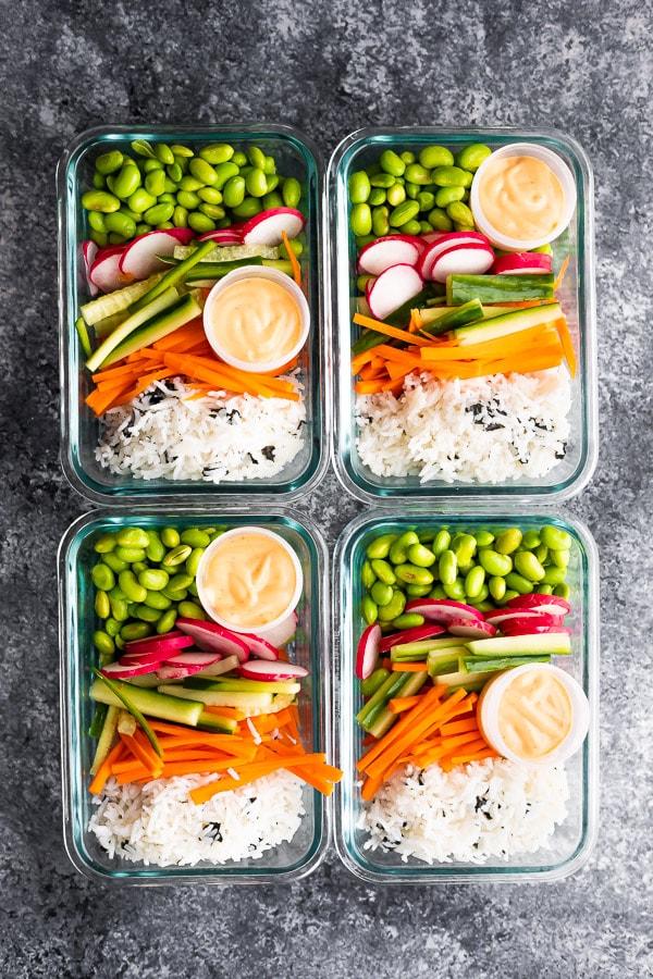 Vegan Sushi Bowl Meal Prep