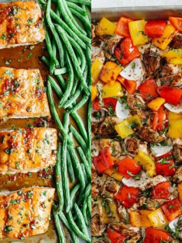 one sheet pan for meal prep