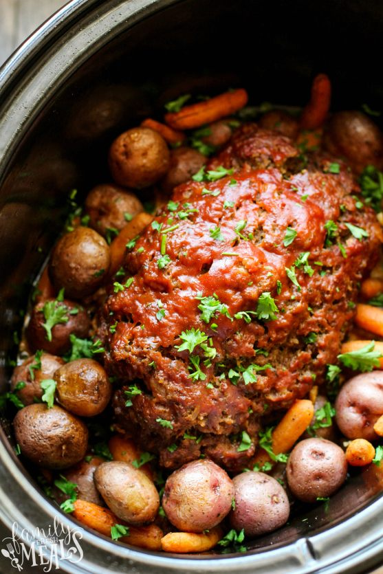 Crockpot Meatloaf Dinner