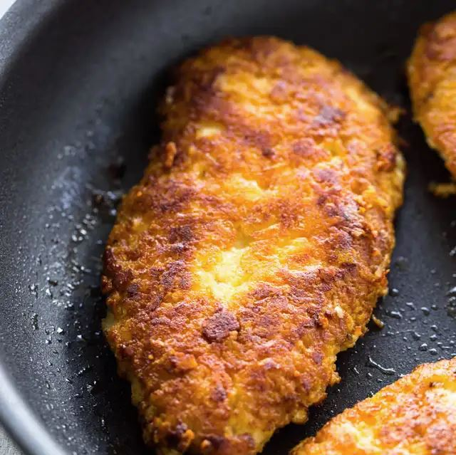 Crispy Parmesan Crusted Chicken Breasts