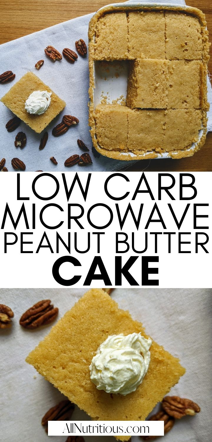 low carb peanut butter cake in microwave