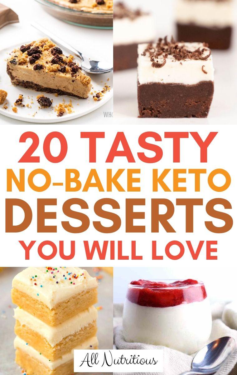 keto no-bake desserts