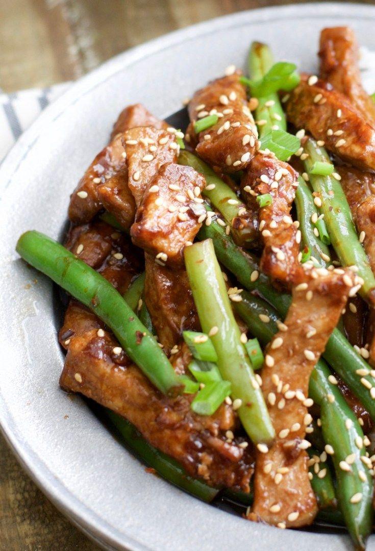 Keto Sesame Pork and Green Beans