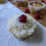 Ketogenic Coconut Raspberry Cupcakes