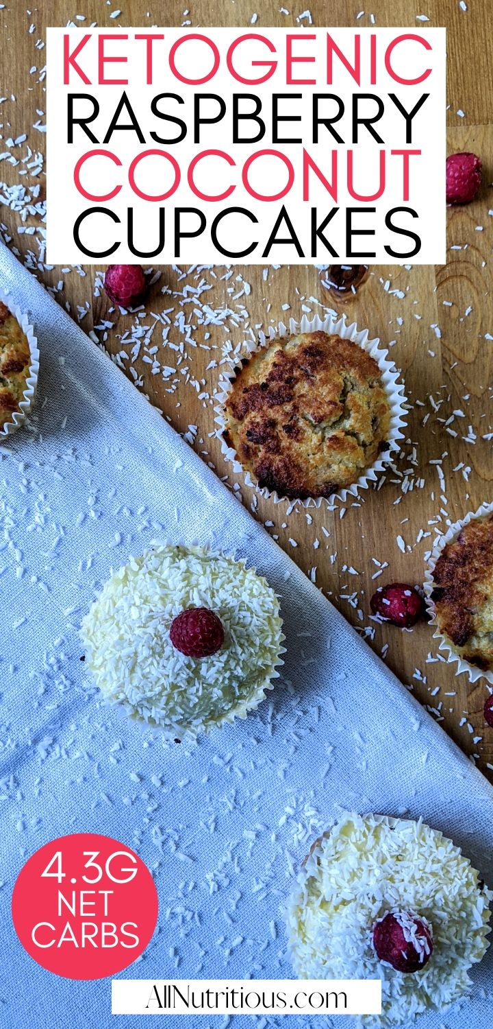 low carb coconut raspberry cupcakes