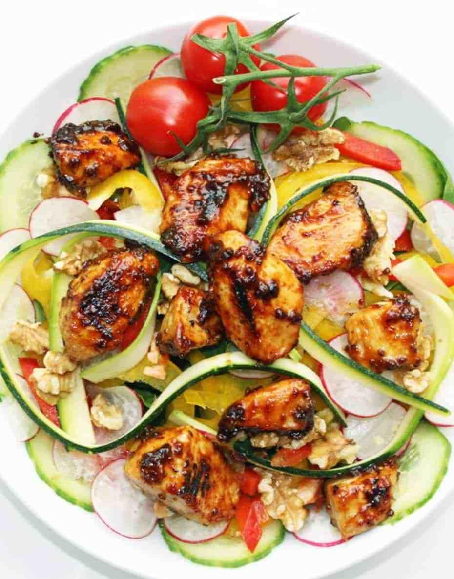 Mustard Marinated Chicken Salad