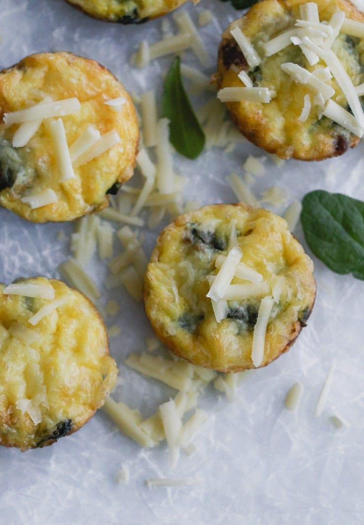 Sausage, Spinach, and Cheese Egg Cups