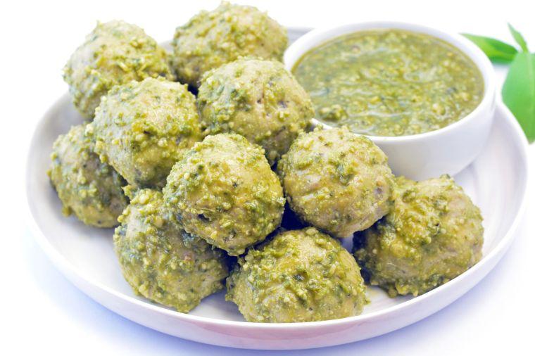 Pesto Keto Meatballs