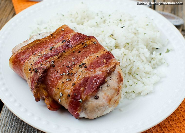 Bacon-Wrapped Pork Chops