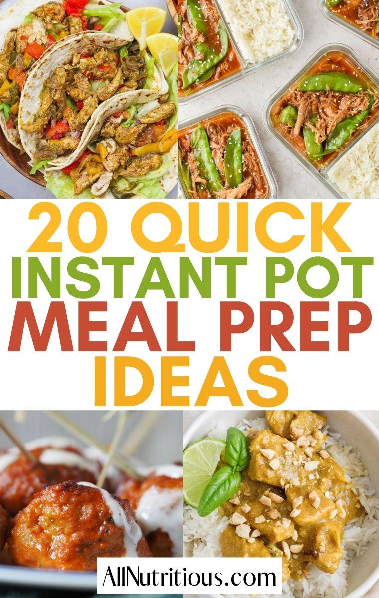 instant pot meal prep ideas