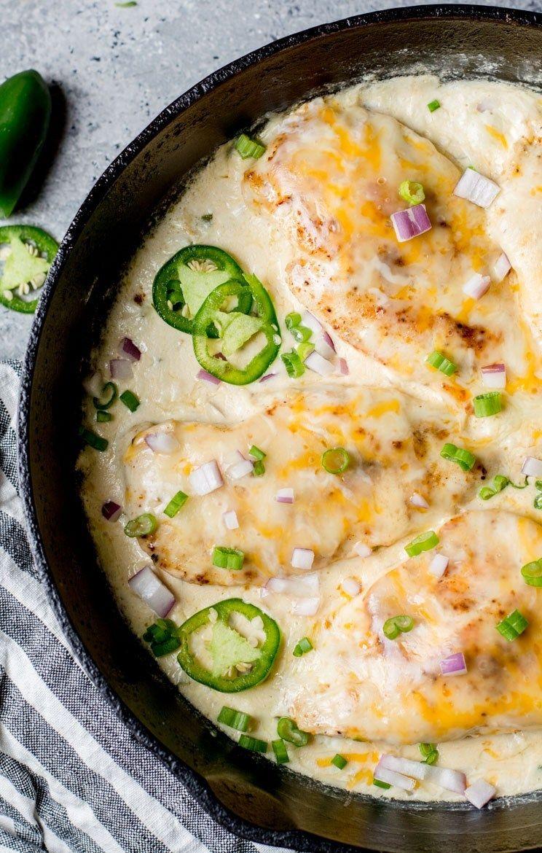 One Pan Keto Cheesy Jalapeño Chicken
