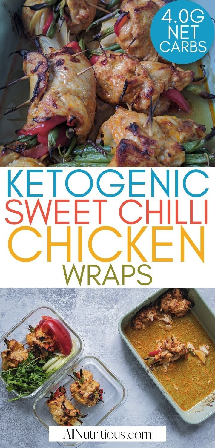 Keto Sweet Chilli Chicken Wraps