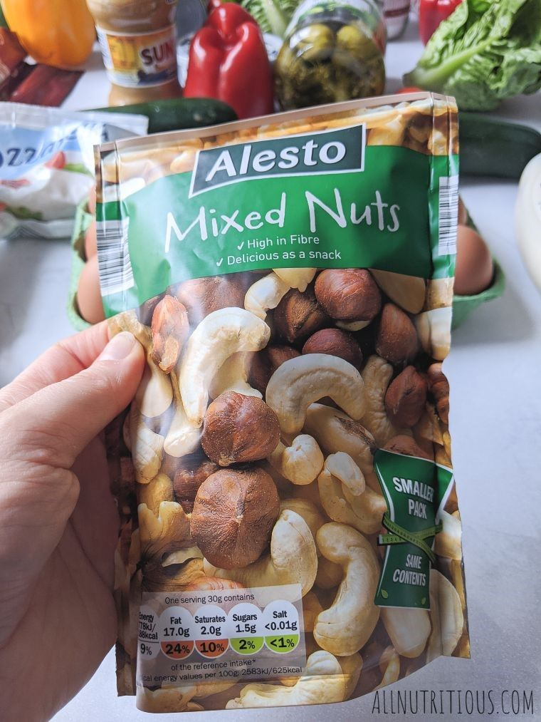 bag of mixed nuts