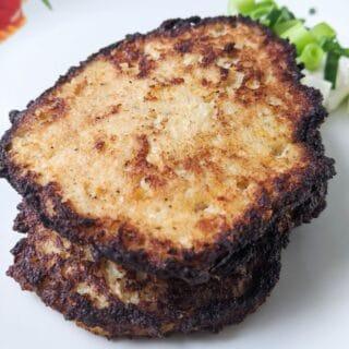 Keto Cheesy Cauliflower Pancakes