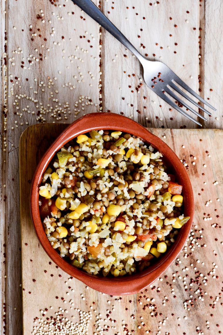 bulgur dish in a bowl