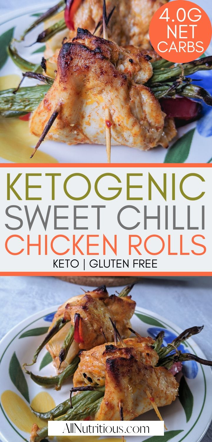 Try these ketogenic chicken rolls that are great for packable lunch or packable dinner. These chicken rolls are easy to make on the ketogenic diet. #keto
