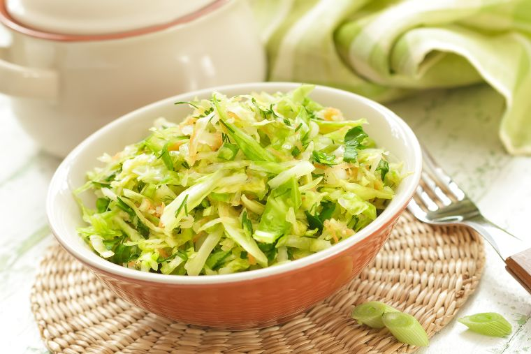 Cabbage rice in a bowl