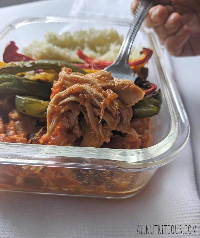 Salsa Shredded Chicken Meal Prep