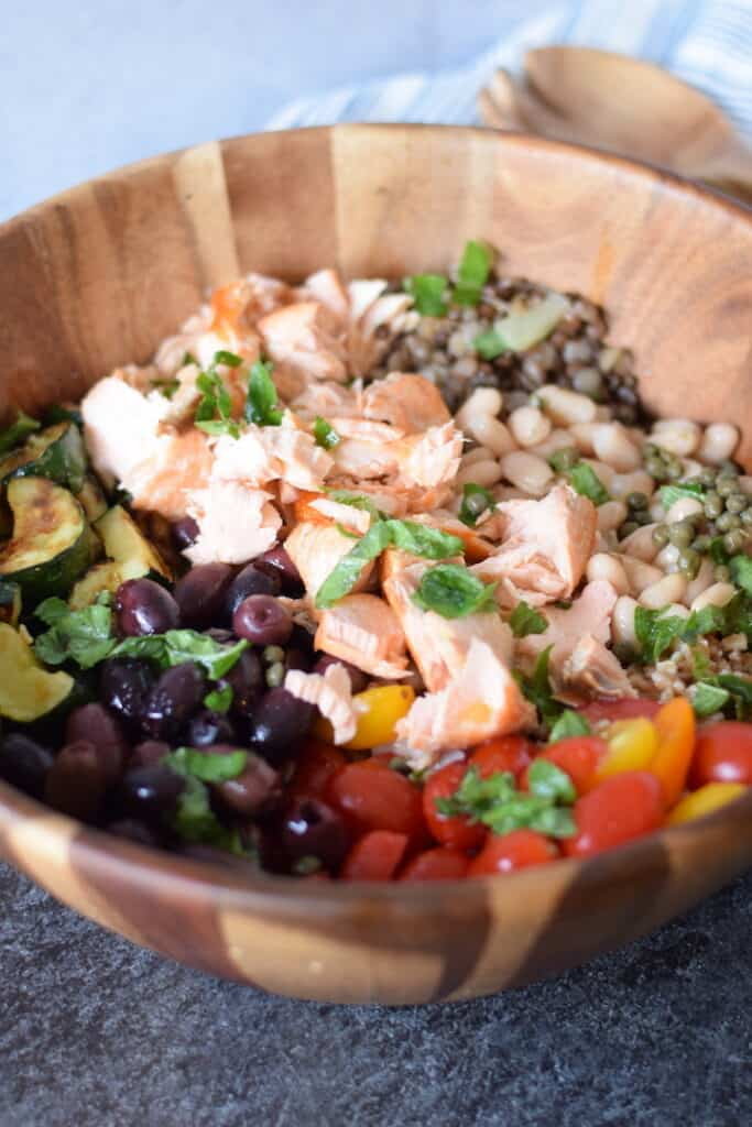 Salmon Mediterranean Grain Bowl