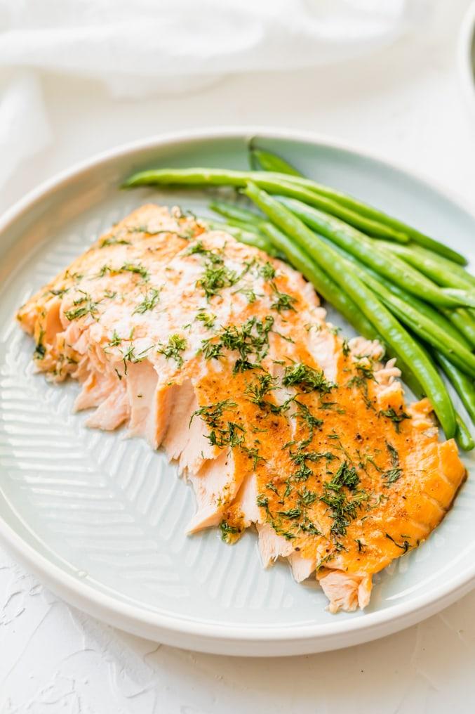 Flaky Oven Baked Salmon