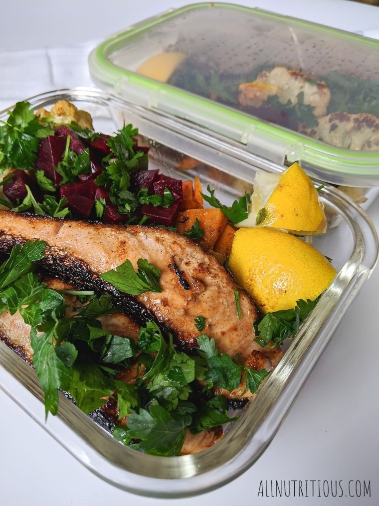 healthy recipe with salmon