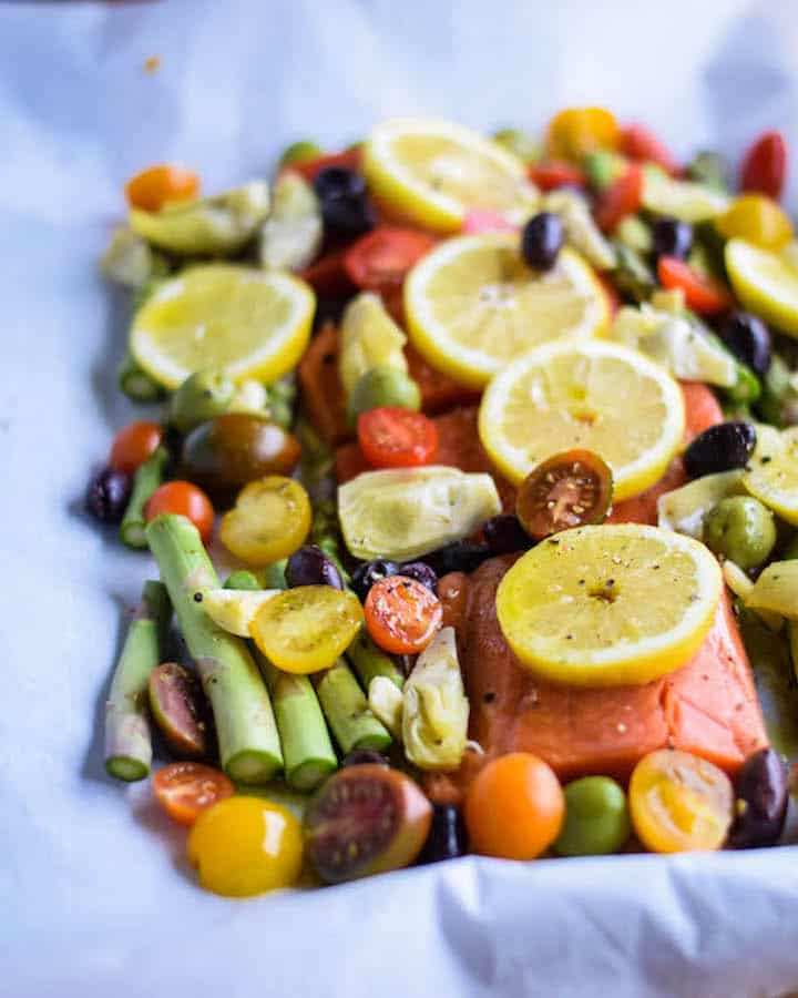Mediterranean Salmon Sheet Pan