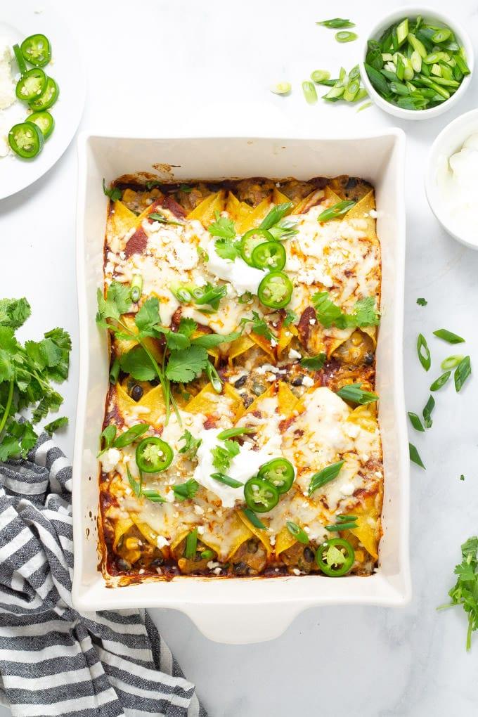 Easy Veggie Enchiladas