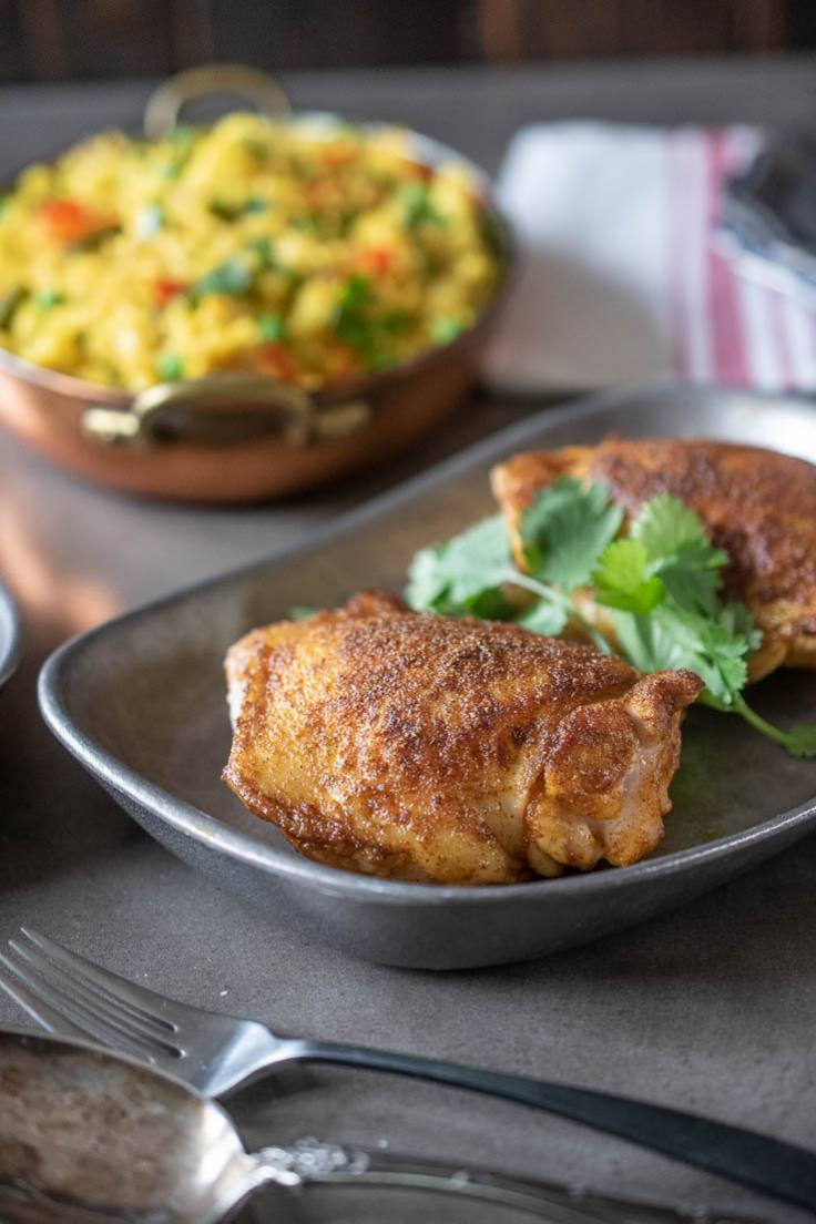Indian Spice-Rubbed Chicken Thighs