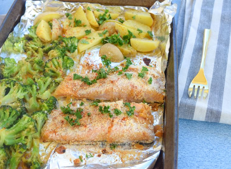 Sheet Pan Honey Mustard Salmon