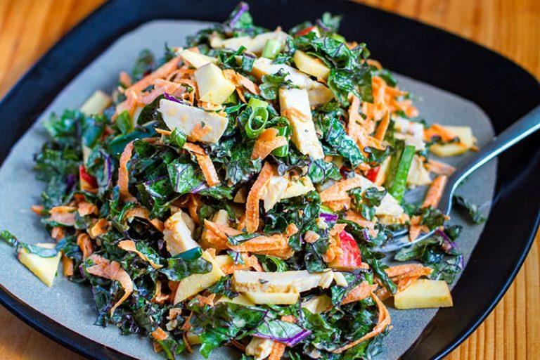 Kale Chicken apple salad
