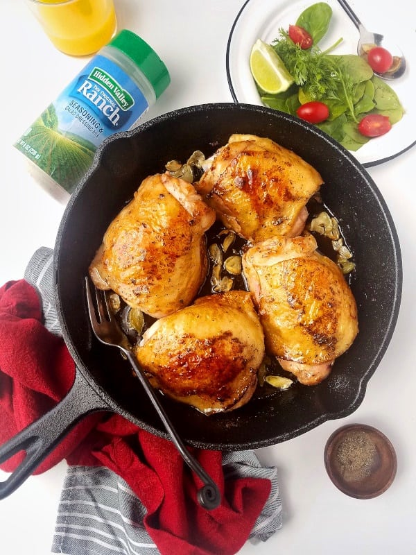 Cast Iron Keto Ranch Chicken Thighs