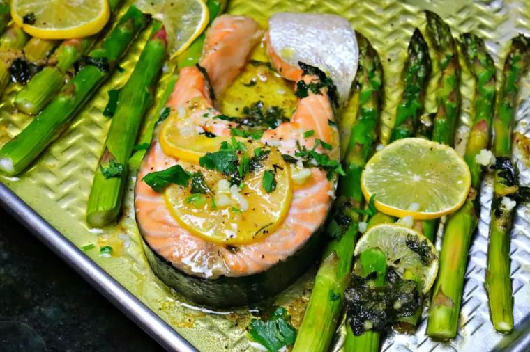 Salmon Steak Sheet Pan