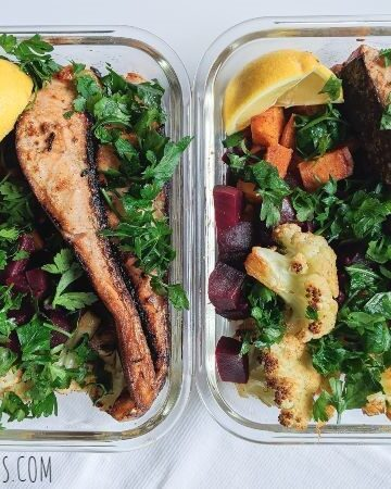 salmon meal prep featured