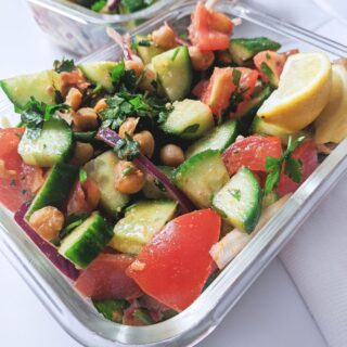 high protein chickpea salad
