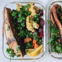 high protein salmon meal prep