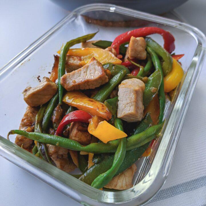 pork stir fry meal prep
