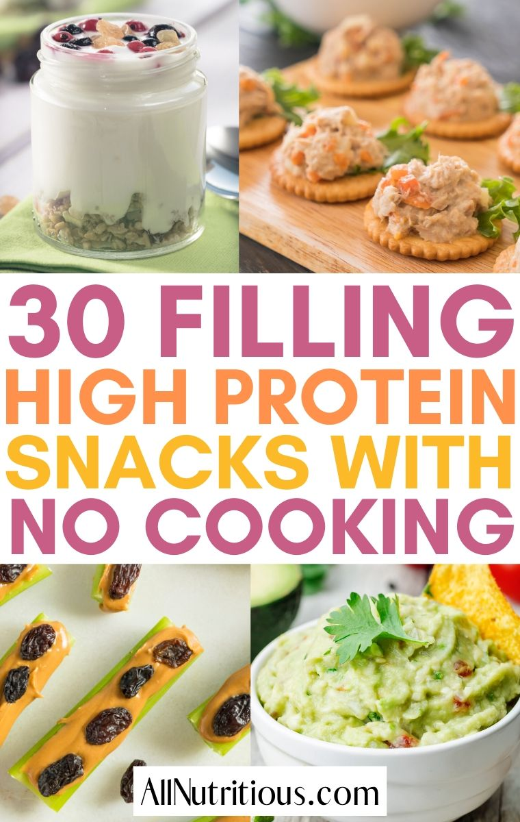 high protein snacks no cooking